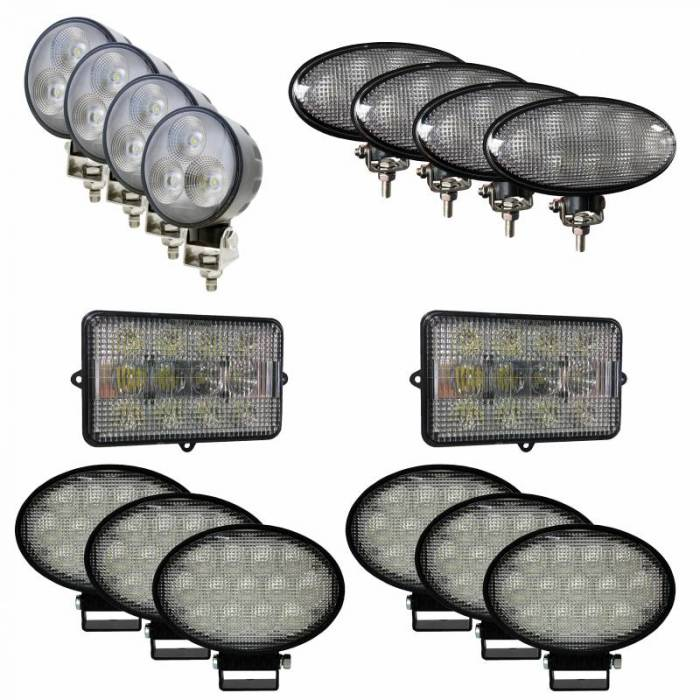 Tiger Lights - JDKit6 - Complete LED Light Kit for John Deere Combines