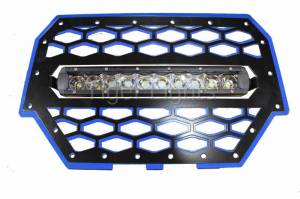 Tiger Lights - Polaris RZR 900/1000 Blue Grille, TLRZR1000BLL