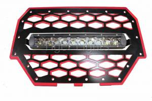 Tiger Lights - Polaris RZR 900/1000 Red Grille, TLRZR1000RWL