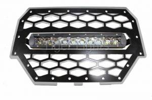 Tiger Lights - Polaris RZR 900/1000 Silver Grille, TLRZR1000SWL