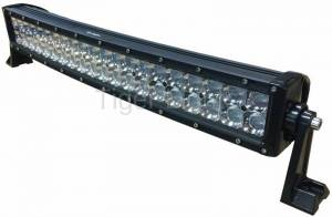 "Electrical Components - LED Lights - Tiger Lights - 22"" Curved Double Row LED Light Bar, TLB420C-CURV"