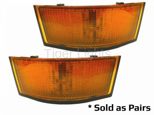 Electrical Components - LED Lights - Tiger Lights - 2 LED Amber Corner Lights for John Deere, Sold as Sets, TL8040
