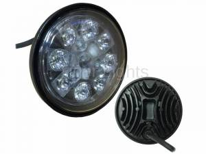 Electrical Components - LED Lights - Tiger Lights - 24W LED Sealed Round Hi/Lo Beam with Wired Cable, TL3020, RE25126
