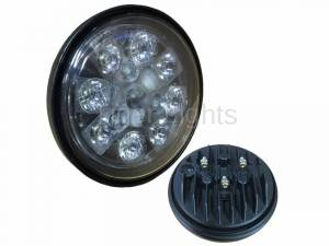 Electrical Components - LED Lights - Tiger Lights - 24W LED Sealed Round Hi/Lo Beam with Screw Connection, TL3025, RE25126