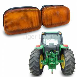 Electrical Components - Tiger Lights - LED For John Deere Amber Cab Light, TL7020