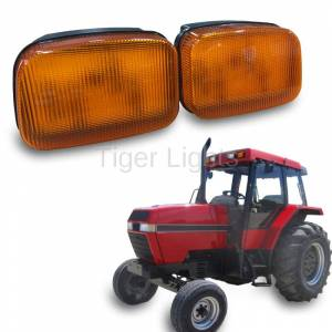 Electrical Components - Tiger Lights - LED Case/IH Amber Cab Light, TL7010