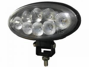 Electrical Components - LED Lights - Tiger Lights - Bottom Mount Oval LED Light, Spot Beam, TL8060