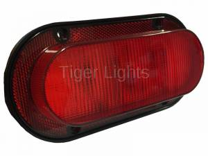 Tiger Lights - LED Red Oval Tail Light, TL4560