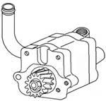 4WD Front Axle & Steering - Steering - Farmland - 1685031M92-Massey Ferguson STEERING PUMP