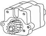 4WD Front Axle & Steering - Steering - Farmland - 3510800M91-Massey Ferguson STEERING PUMP