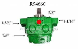 Hydraulics - Pumps - Pumps - AR94660 - For John Deere HYDRAULIC PUMP