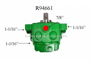 Hydraulics - Pumps - AR94661 - For John Deere HYDRAULIC PUMP