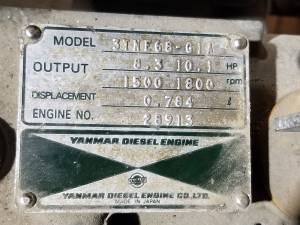 Used Engines - Yanmar 3TNE68-GIA  Used Power Unit Engine - Image 3