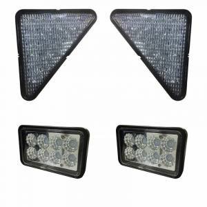 Electrical Components - LED Lights - Tiger Lights - BobcatKit1 - Complete LED Light Kit for Older Bobcat Skidsteers