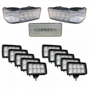 Electrical Components - LED Lights - Tiger Lights - CaseKit7 - Complete LED Light Kit for Case/IH STX Tractors