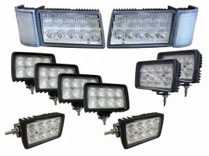Electrical Components - LED Lights - Tiger Lights - CaseKit10 - Complete LED Light Kit for Case/IH MX Maxxum Tractors