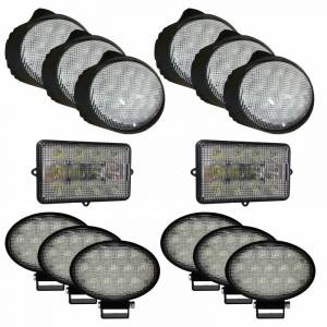Electrical Components - LED Lights - Tiger Lights - JDKit5 - Complete LED Light Kit for John Deere Combines