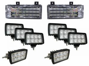 Electrical Components - LED Lights - Tiger Lights - FNHKit1 - Complete LED Light Kit for Ford New Holland Versatile Genesis Tractors