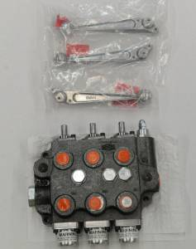 Hydraulics - Control Valve - Farmland - SBA222 - For John Deere UNIVERSAL TRIPLE SPOOL CONTROL VALVE 2000 PSI OPEN CENTER