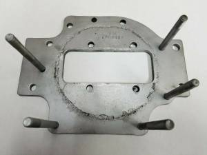 Cooling System Components - Water Pumps - Farmland Tractor - 747208M91 - Massey Ferguson, White WATER PUMP MOUNTING PLATE, Used